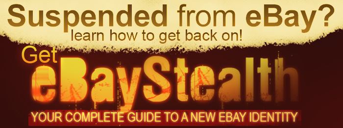 eBay Suspended Guide eBay Stealth